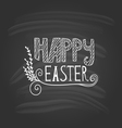 Happy Easter lettering on dark background vector image