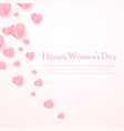 happy women s day greeting card with cut out paper vector image vector image