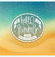 hello summer styled coast background vector image