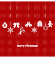 Holiday Christmas card vector image vector image