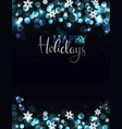 holiday party invitation on silver-blue background vector image vector image