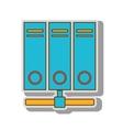 hosting server web vector image
