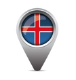 Iceland pointer flag vector image vector image