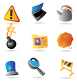 Icons for program interface vector image vector image