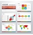 Infographics presentation template flat design vector image vector image