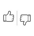 Like dislike vector image vector image