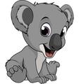 Little funny bear koala vector image vector image