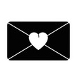 Love envelope isolated icon