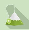 matcha tea pyramid icon flat style vector image vector image