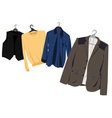 mens clothing on hangers vector image vector image