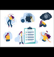 mental problems human mind treatment emotional vector image