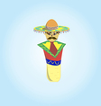 Mexican sombrero with a mustache in a plug for teq