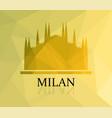 milan cathedral vector image vector image