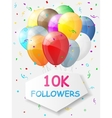 milestone 10000 followers background vector image