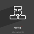 Network icon symbol Flat modern web design with vector image
