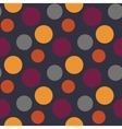 Pattern with polka yellowgreypurple dots vector image vector image