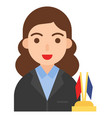 politician icon profession and job vector image vector image