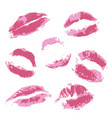 print of volume pink lips vector image vector image