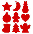 red hangtags christmas or new year stock vector image vector image