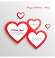 Red hearts Valentines day card vector image