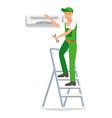 repairman design character vector image vector image