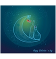 Romantic valentine card with love vector image vector image