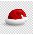 santa claus hat isolated on white background vector image vector image