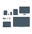 Screens flat vector image vector image