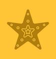 sea star glyph color icon vector image