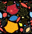 seamless autumn pattern leaves vector image