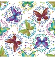 Seamless background butterflies vector image vector image