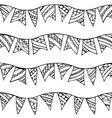 seamless doodles garlands pattern vector image