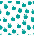 seamless pattern from green ripe apples with a vector image