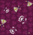 seamless pattern of art deco inspired flowers vector image