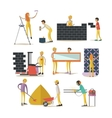 set of construction workers isolated flat vector image vector image