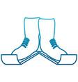ski boots sport equipment vector image
