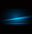 smooth technology blue light lines on dark space vector image vector image