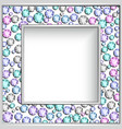 square frame with diamond jewelry border vector image