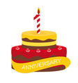 template 1 years anniversary congratulations vector image vector image