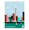 Toronto city Canada vector image