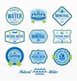 variety water emblem set vector image vector image