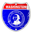 washington flag icons as interstate sign vector image vector image