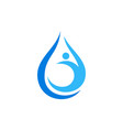 water for life abstract logo icon concept vector image vector image