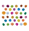 Watercolor splashes set for your design vector image vector image