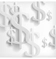 White dollar symbols on white background vector image