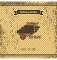 delivery retro page vector image