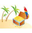 treasure parrot color vector image