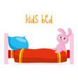 kids bed vector image