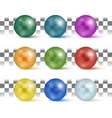 Collection of colorful glossy spheres vector image