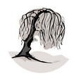 a weeping willow tree symbol vector image vector image